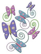 pastel colored butterflies cliparts