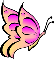 fun butterfly clipart pink wingspan