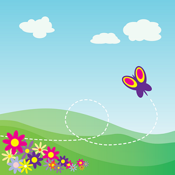 butterfly clipart graphic handwriting on wings