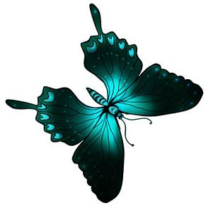 black and green cool butterfly clipart wing spanned