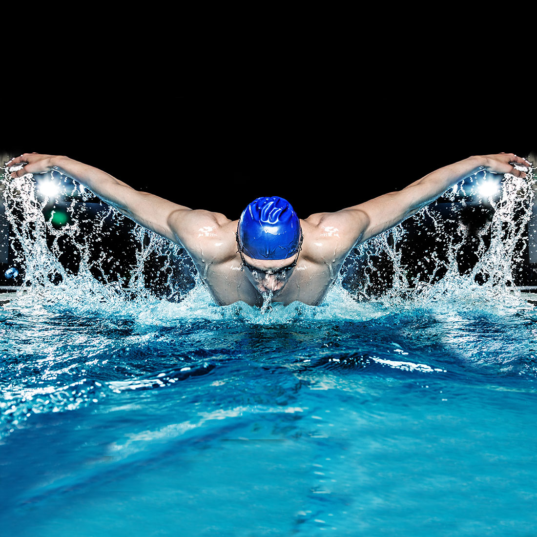 Swimming the butterfly stroke