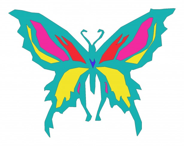 Colored butterfly clipart