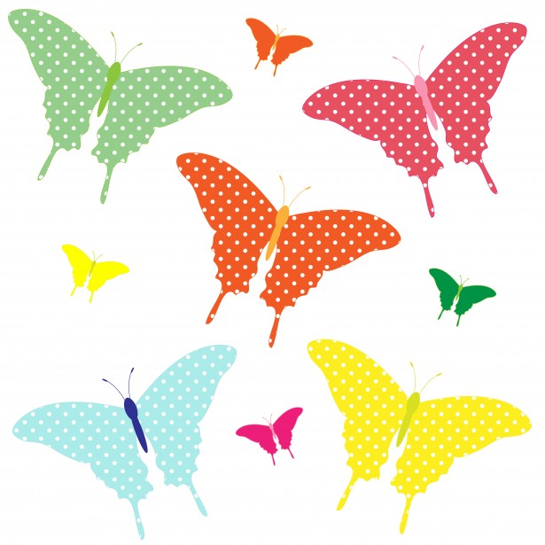 colored butterflies clipart images