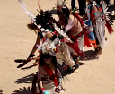 Traditional Native American indian butterfly dance ceremony