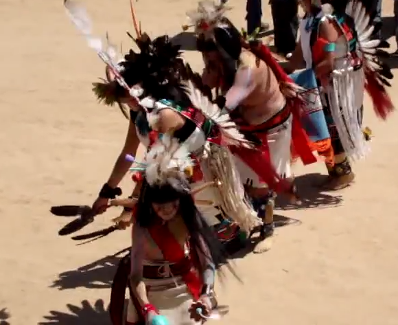 Hopi native american indian ceremonial butterfly dance