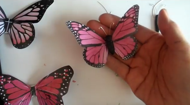 cut out Paper Butterflies wall arts and crafts