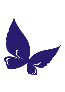 dark royal blue solid purple butterfly winged image